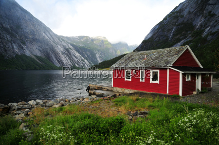 fjord, house - 1617177