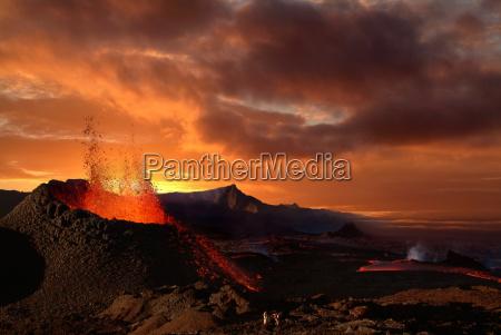 piton de la fournaise volcano reunion