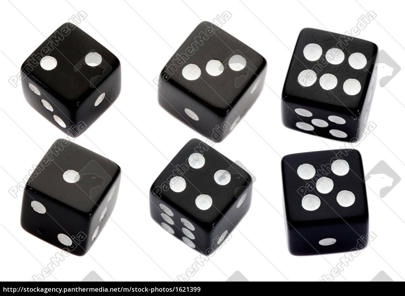 six, black, dices - 1621399