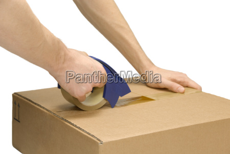 preparing package for shipping