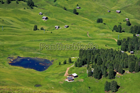 refuges with mountain lake