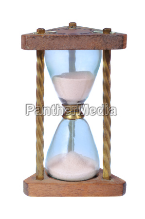 old wooden hourglass