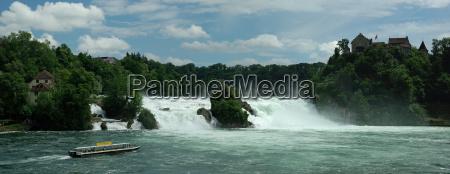 panorama rhine falls in schaffhausen
