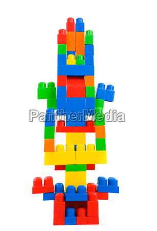 many, colored, pieces, forming, one, tower - 1633451