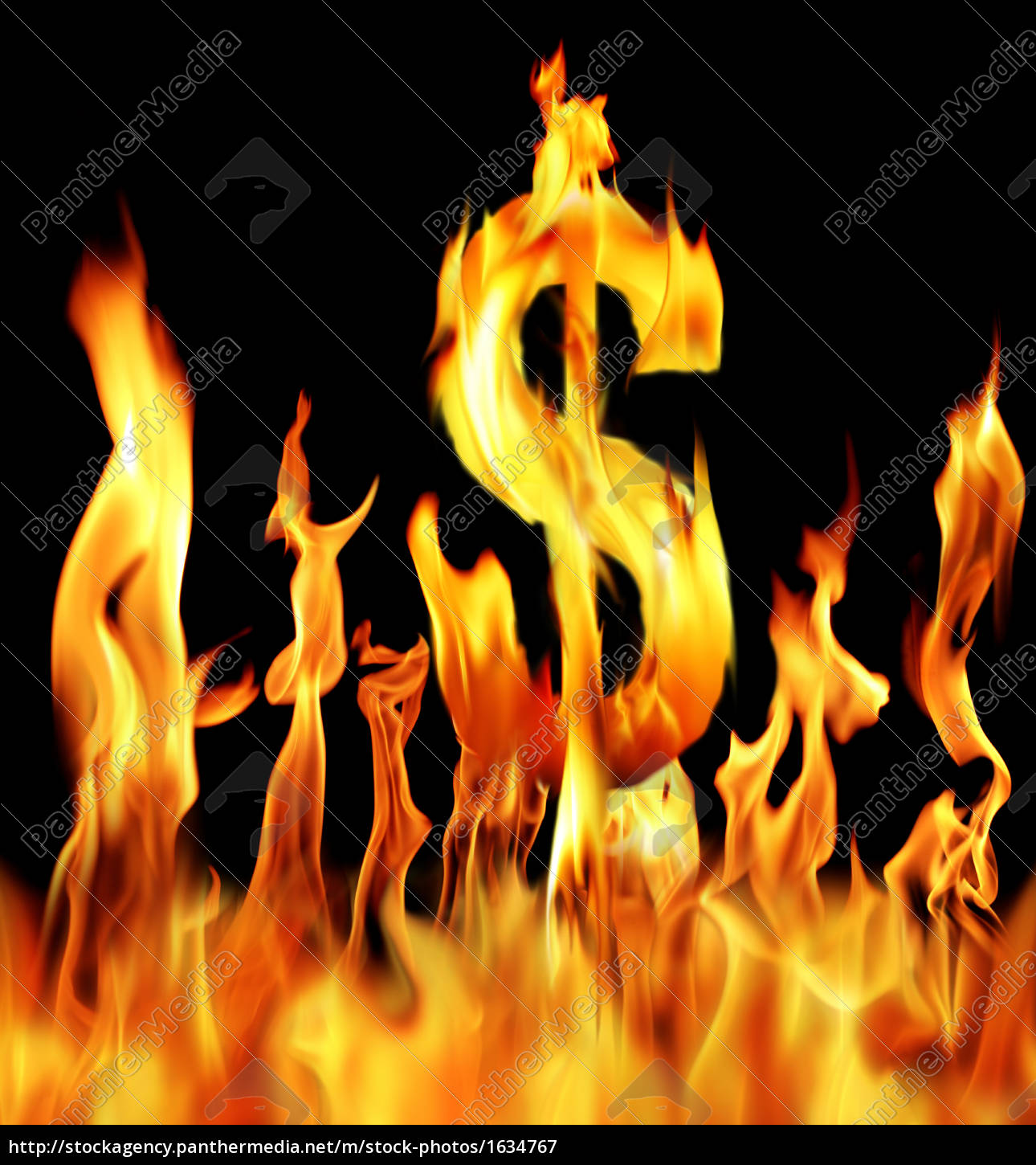 dollar, sign, shapped, fire, flame, - 1634767