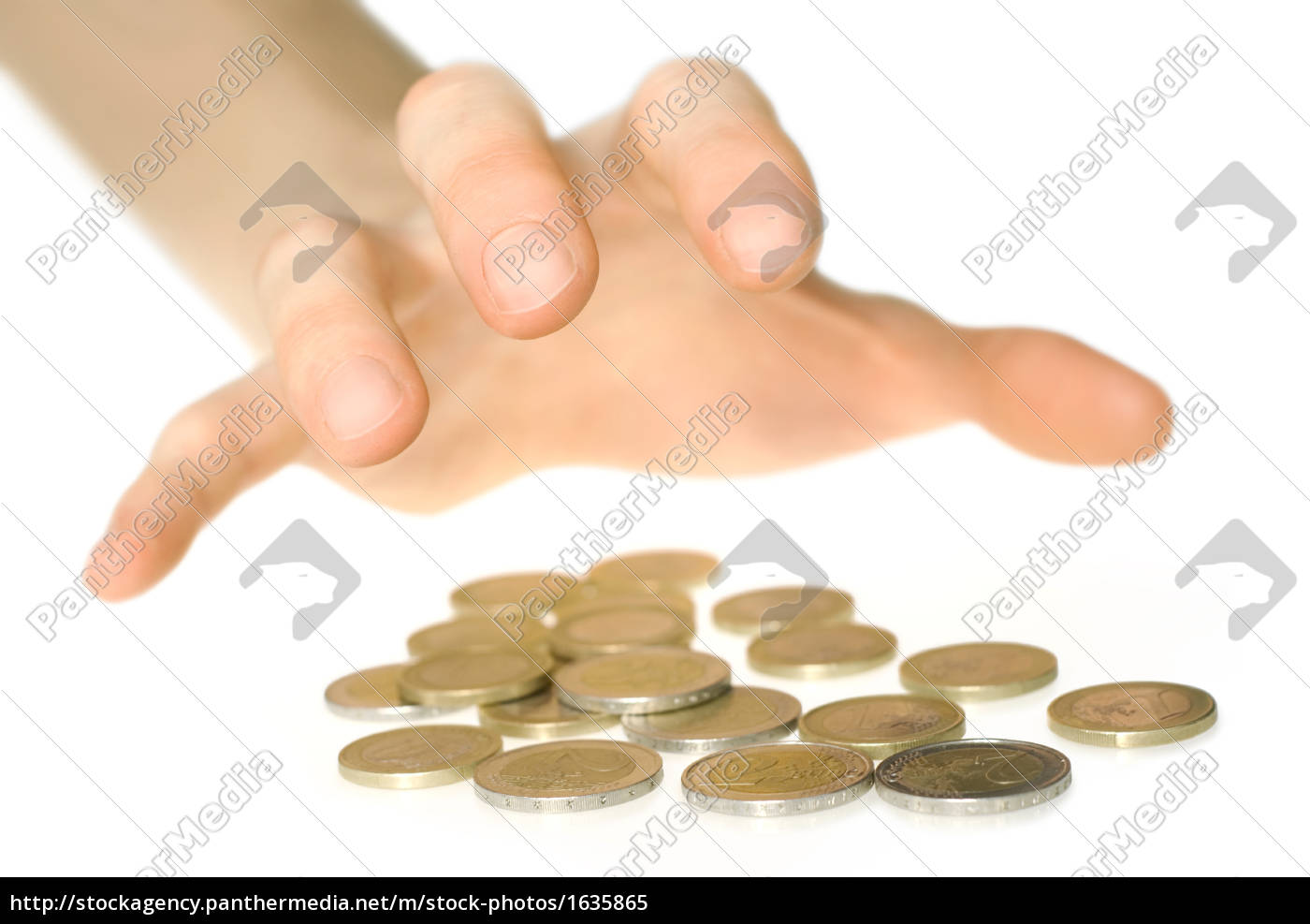 hand, reaching, for, money, isolated - 1635865