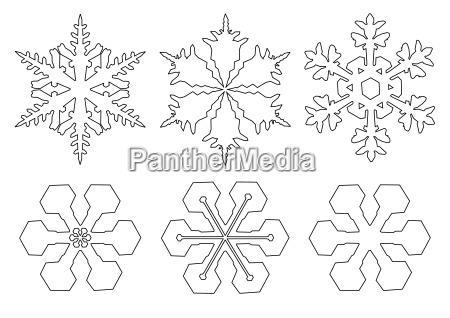 drawings, of, snowflakes - 1640799