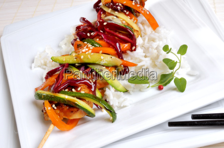 skewer with vegetables