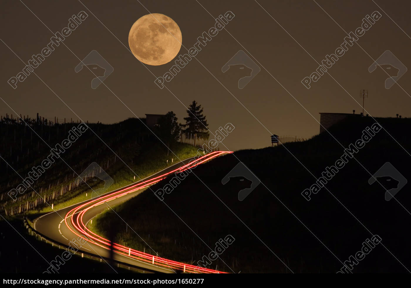 moon, over, road - 1650277