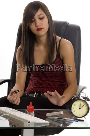 office secretary at nail care