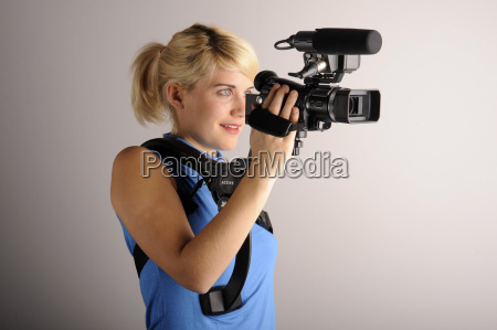 young, woman, video, camera - 1657227