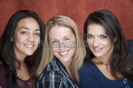 three, smiling, women - 1669725