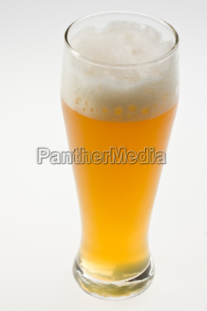 wheat beer isolated on gray