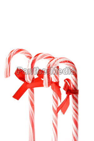 candy cane isolated on a white