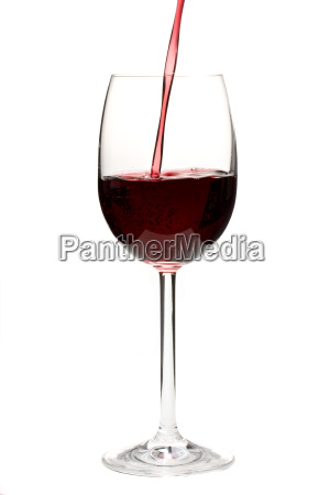 pour red wine into a glass