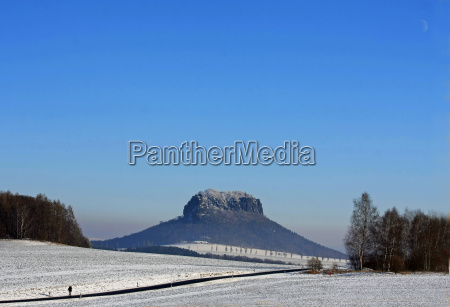 winter in the elbe sandstone mountains