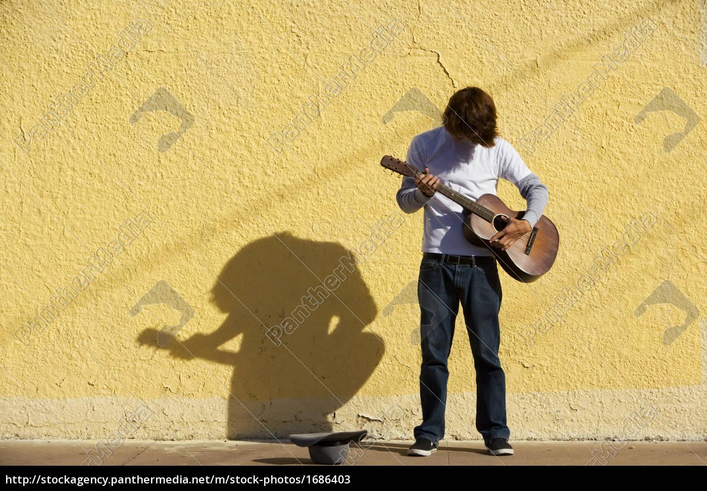 music, male, masculine, musician, guitar, sidewalk - 1686403