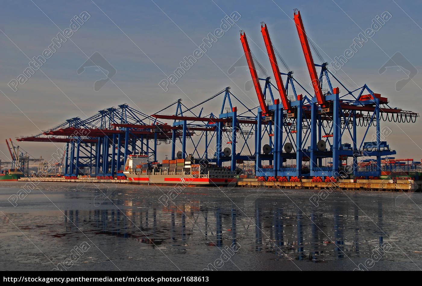 hamburg, harbor, unloading, cranes - 1688613