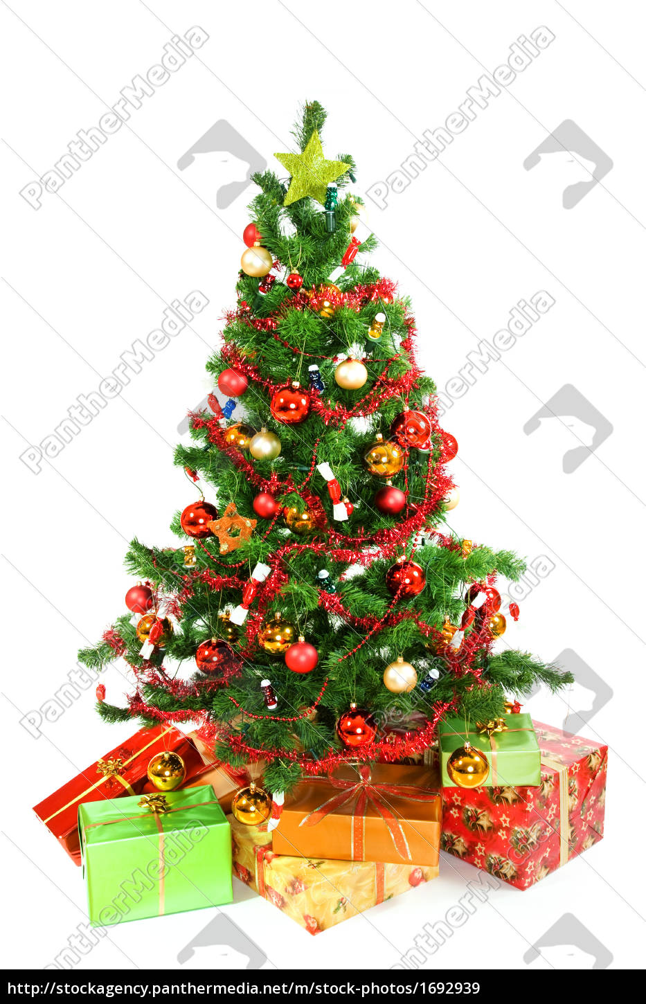 christmas, tree, with, christmas, gifts - 1692939