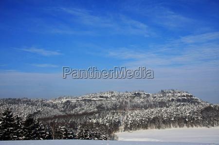 saxon switzerland in winter