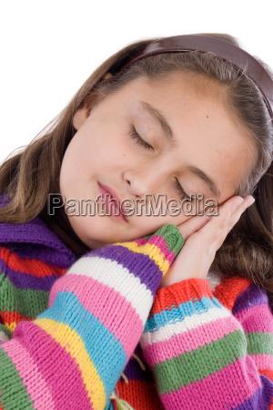 adorable, girl, with, woollen, jacket - 1695171