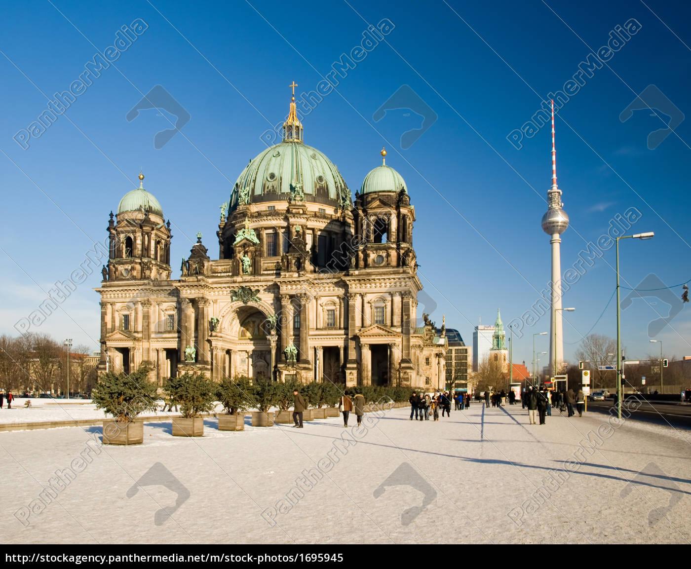 berliner, dom, winter - 1695945