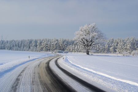 road in winter road in