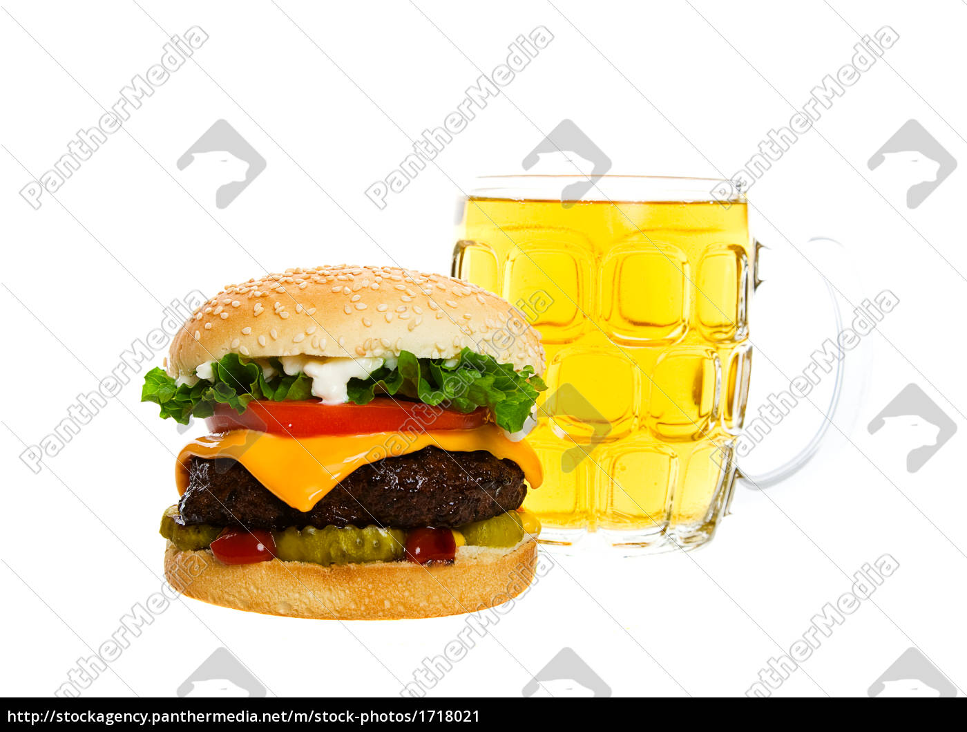 a, beer, and, a, burger - 1718021