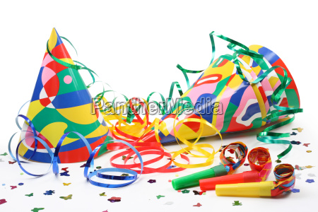 party, hats, , paper, streamer, and, whistles - 1720345
