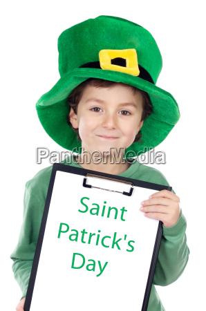 child, whit, hat, of, saint, patrick - 1727865