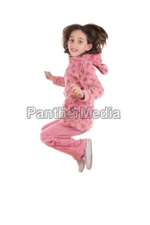 joyful, little, girl, jumping - 1727887