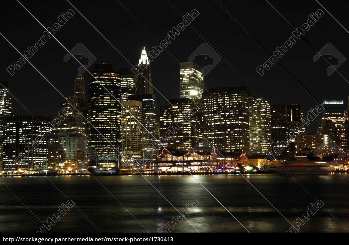 financial, district, manhattan, at, night - 1730413
