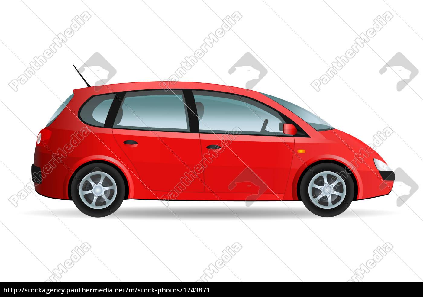 red, minivan - 1743871