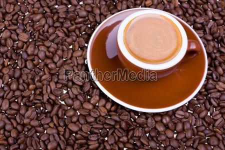 espressotasse and espresso beans