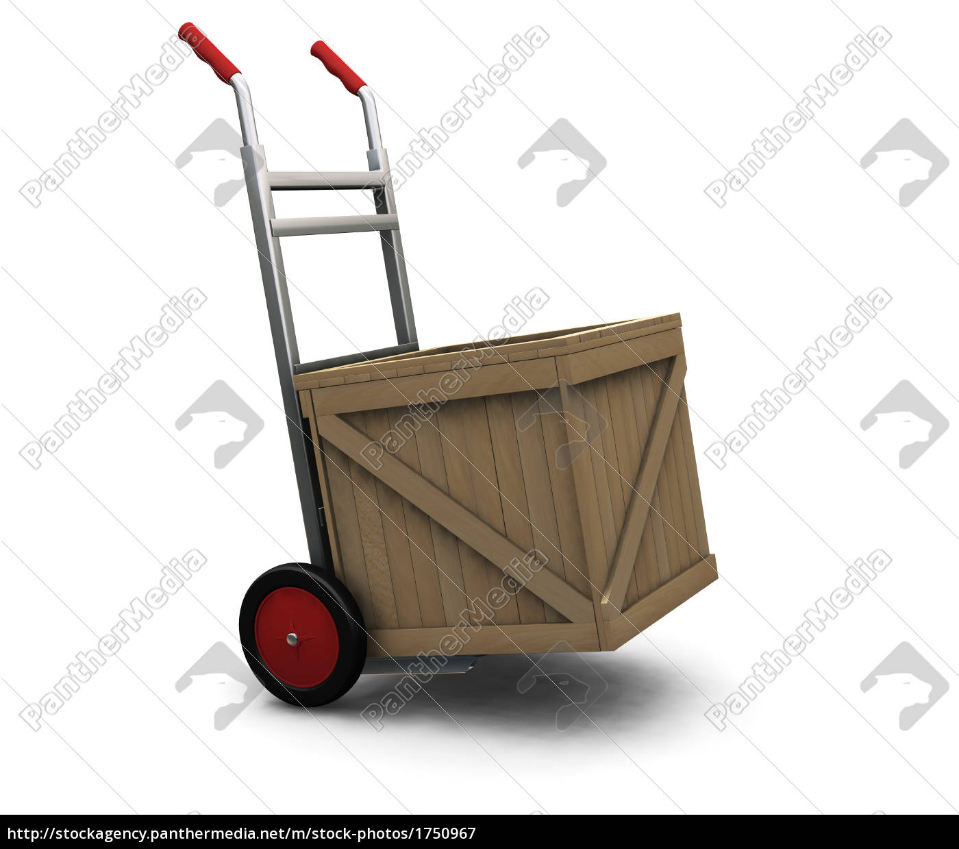 hand, truck, with, crate - 1750967