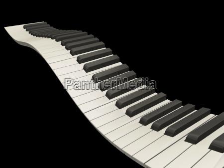 wavy, piano, keys - 1750047