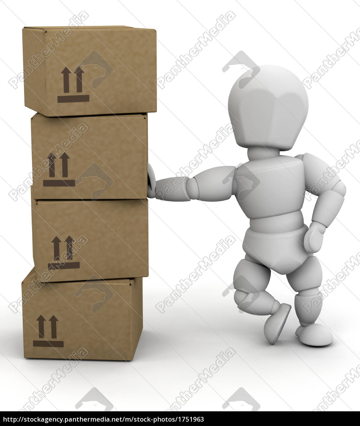 person, leaning, on, boxes - 1751963