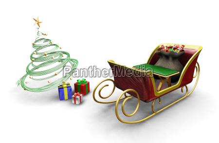 santas, sleigh - 1751049