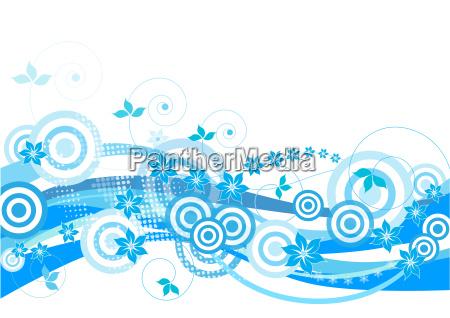 blue, , floral, , grunge, decorative, design, - 1760095