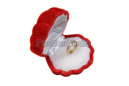 red, velvet, box, with, ring, of - 1760579
