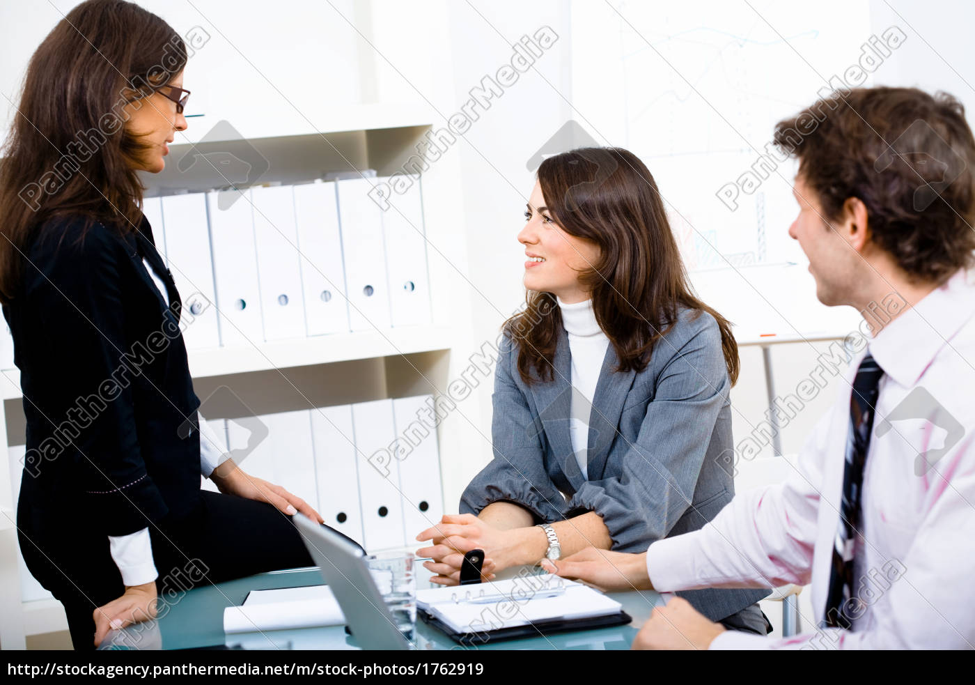 happy, businesspeople, talking - 1762919