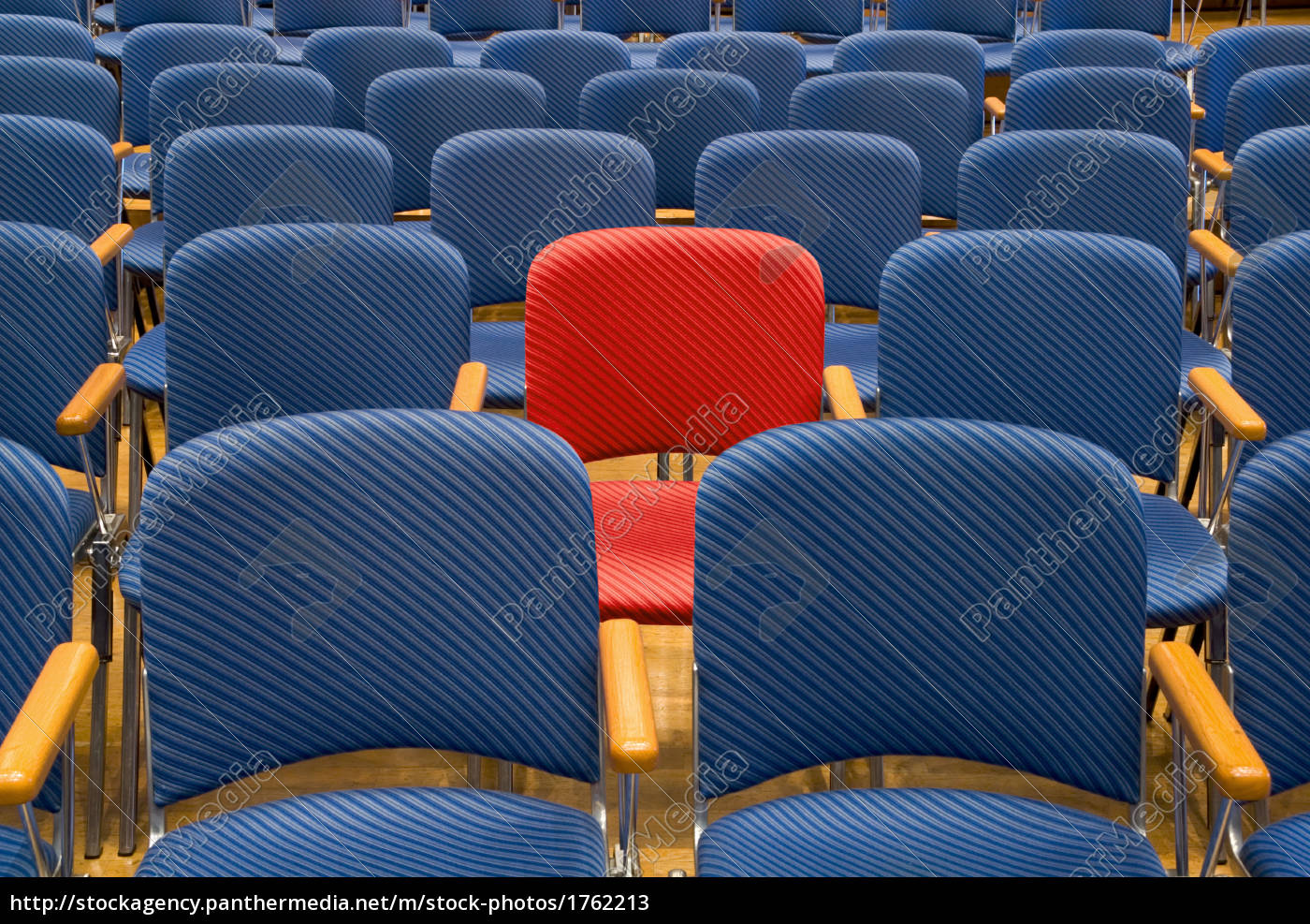 red, seat, among, many, blue - 1762213