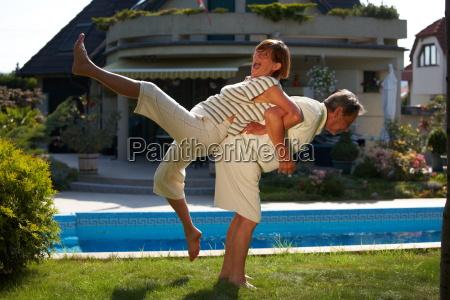 , senior, couple, workout - 1763471