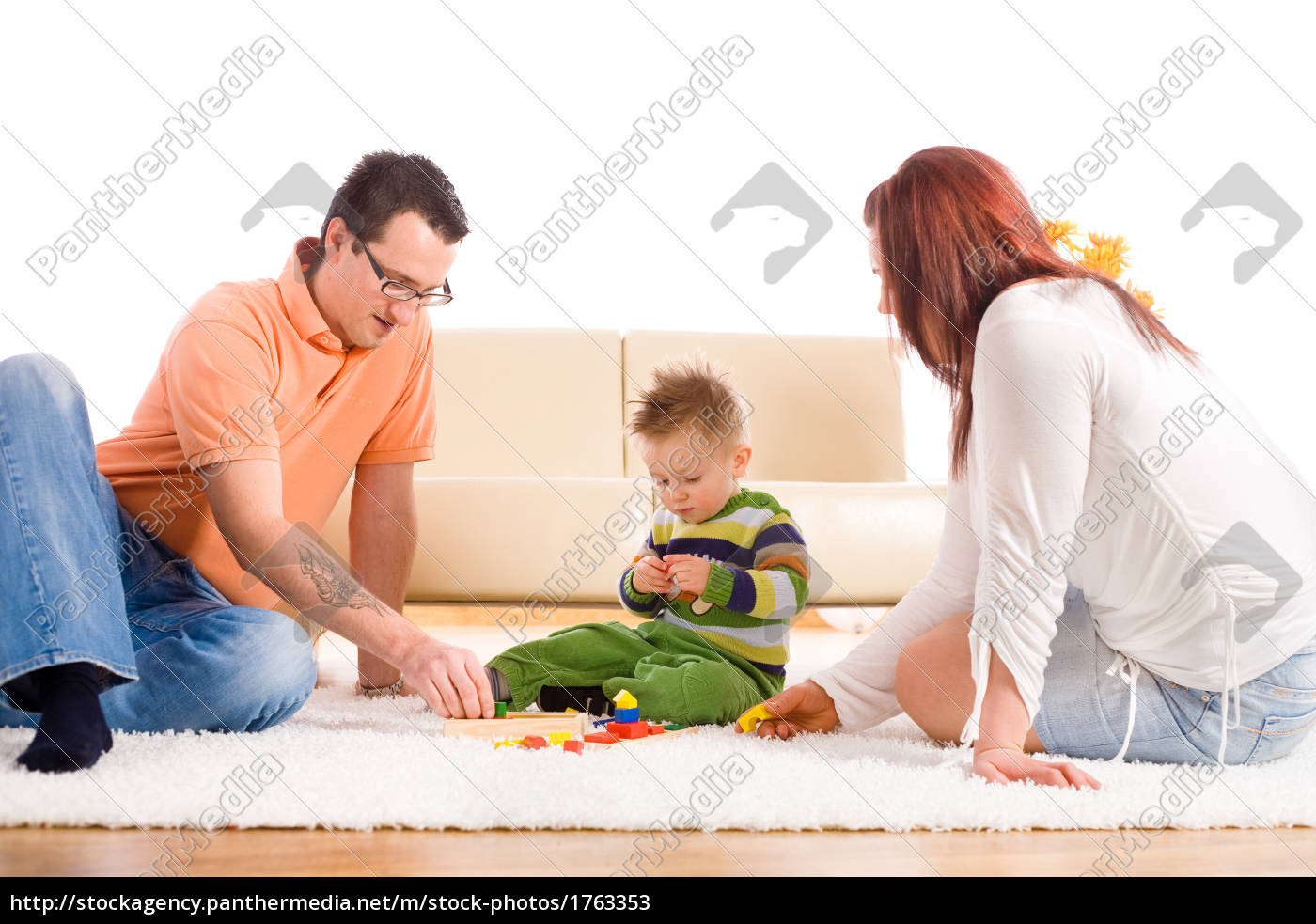 family, playing, at, home - 1763353