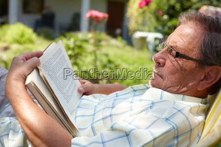 senior, man, reading, outdoor - 1763435
