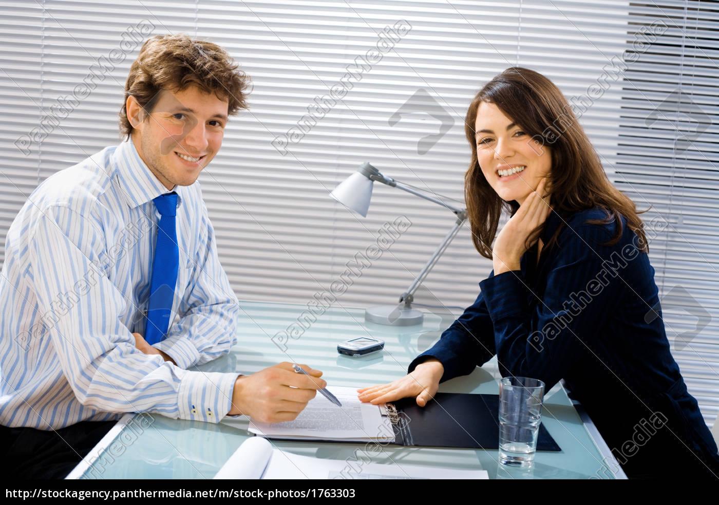smiling, businessteam - 1763303