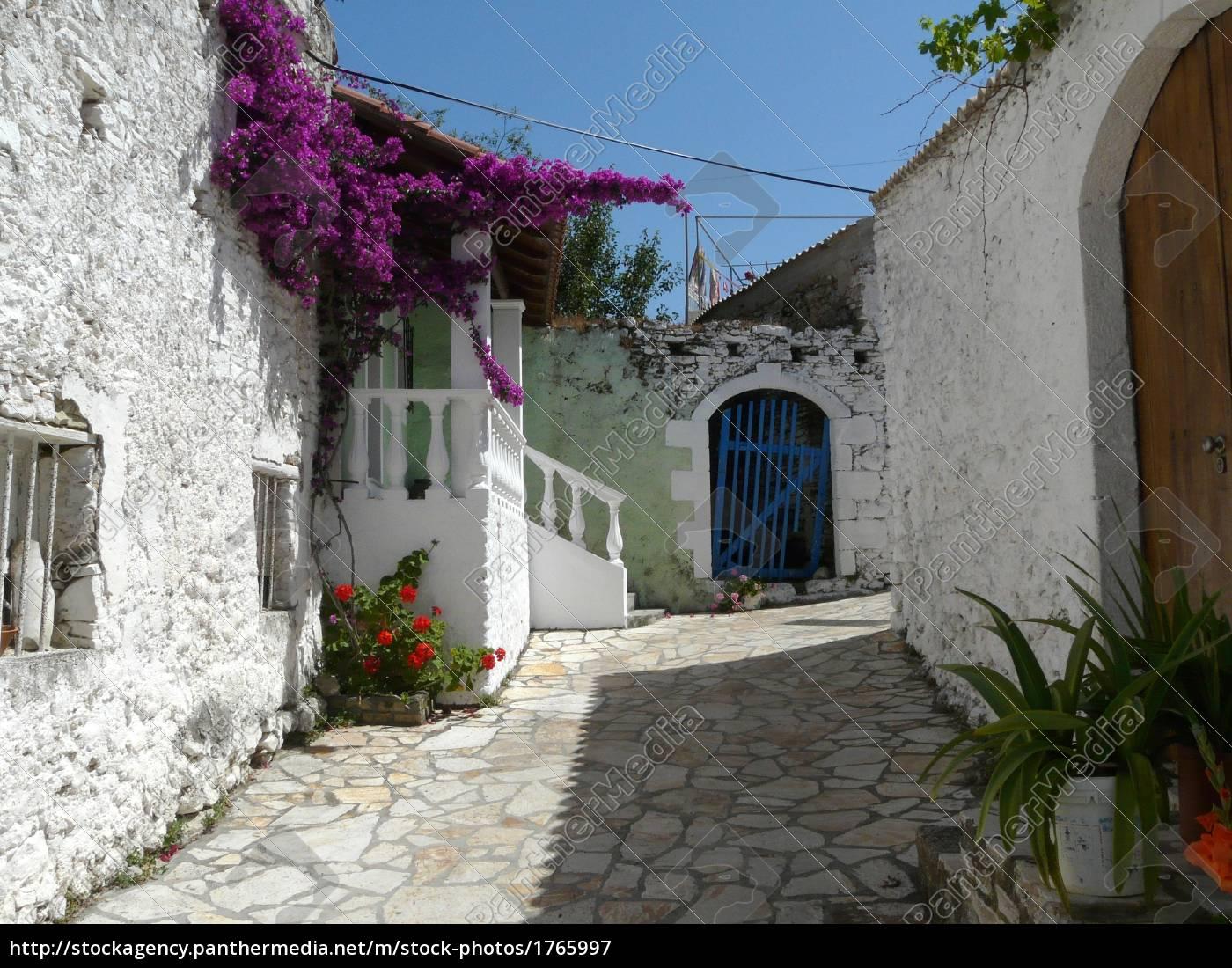mediteranes, village, on, corfu - 1765997