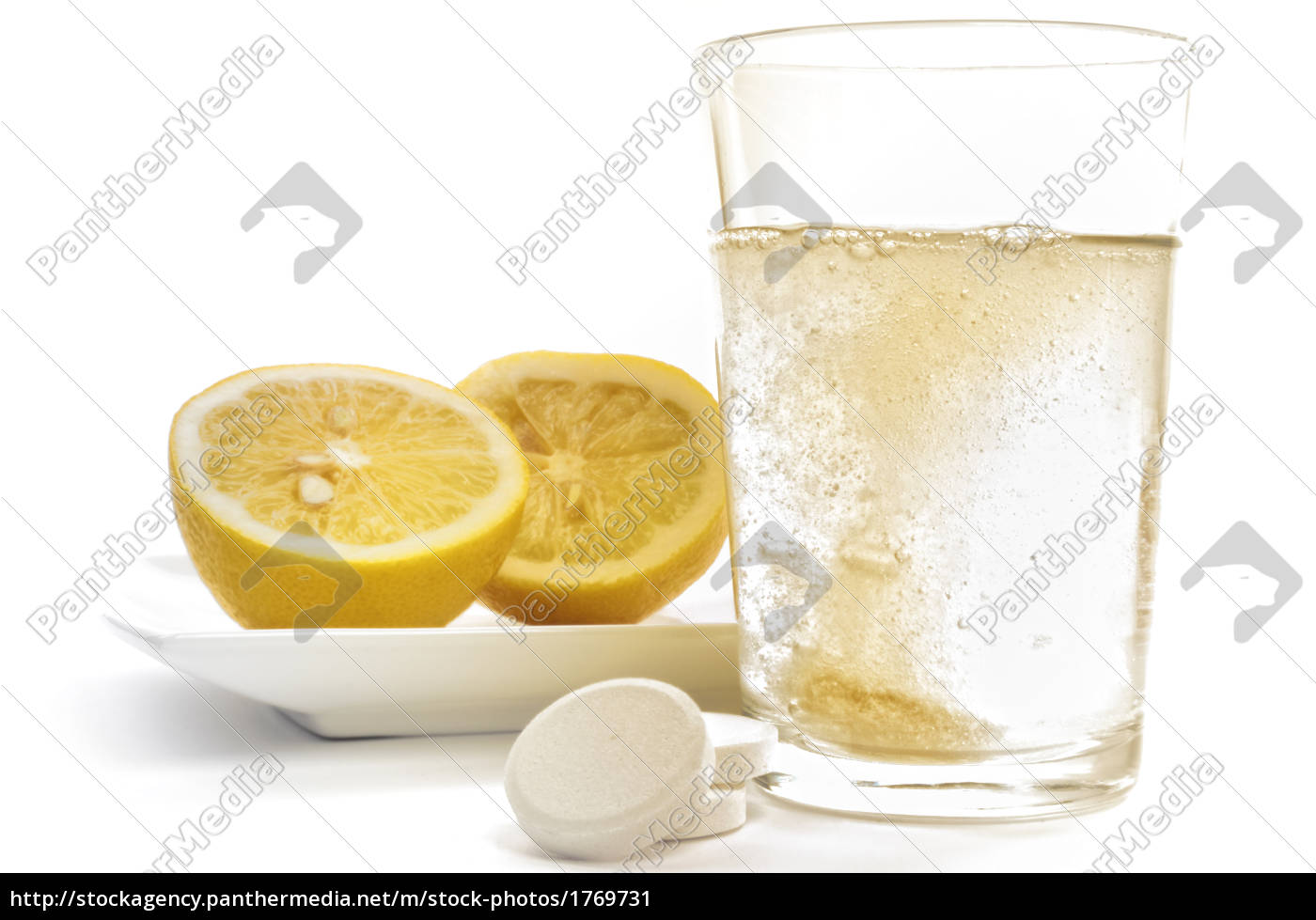 vitamin, c, effervescent, tablet, and, lemons - 1769731