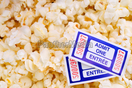 popcorn, and, movie, tickets - 1772699