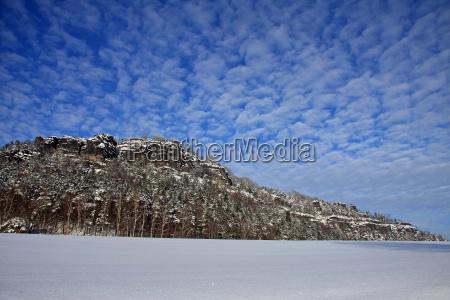 schnee und felsen